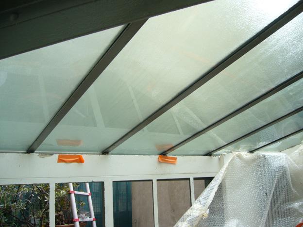 Ets reber miroiterie vitrerie fabrication val d 39 oise - Comment nettoyer toit veranda polycarbonate ...